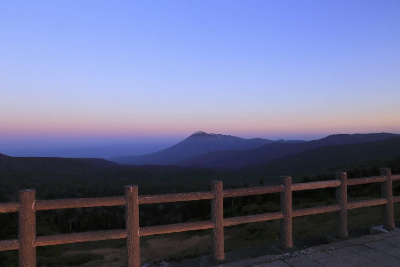 八幡平から観た夕景