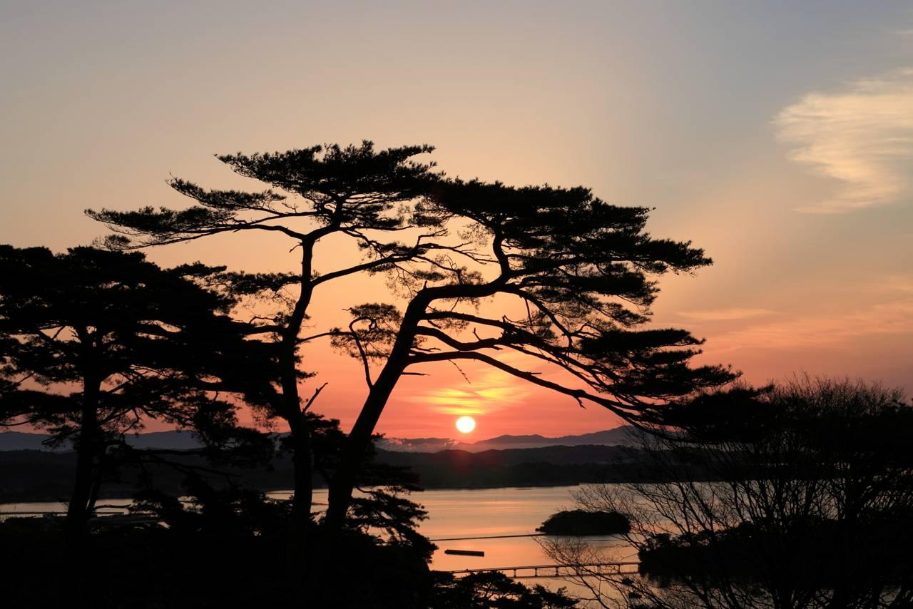 松島の今朝空は最高でした。