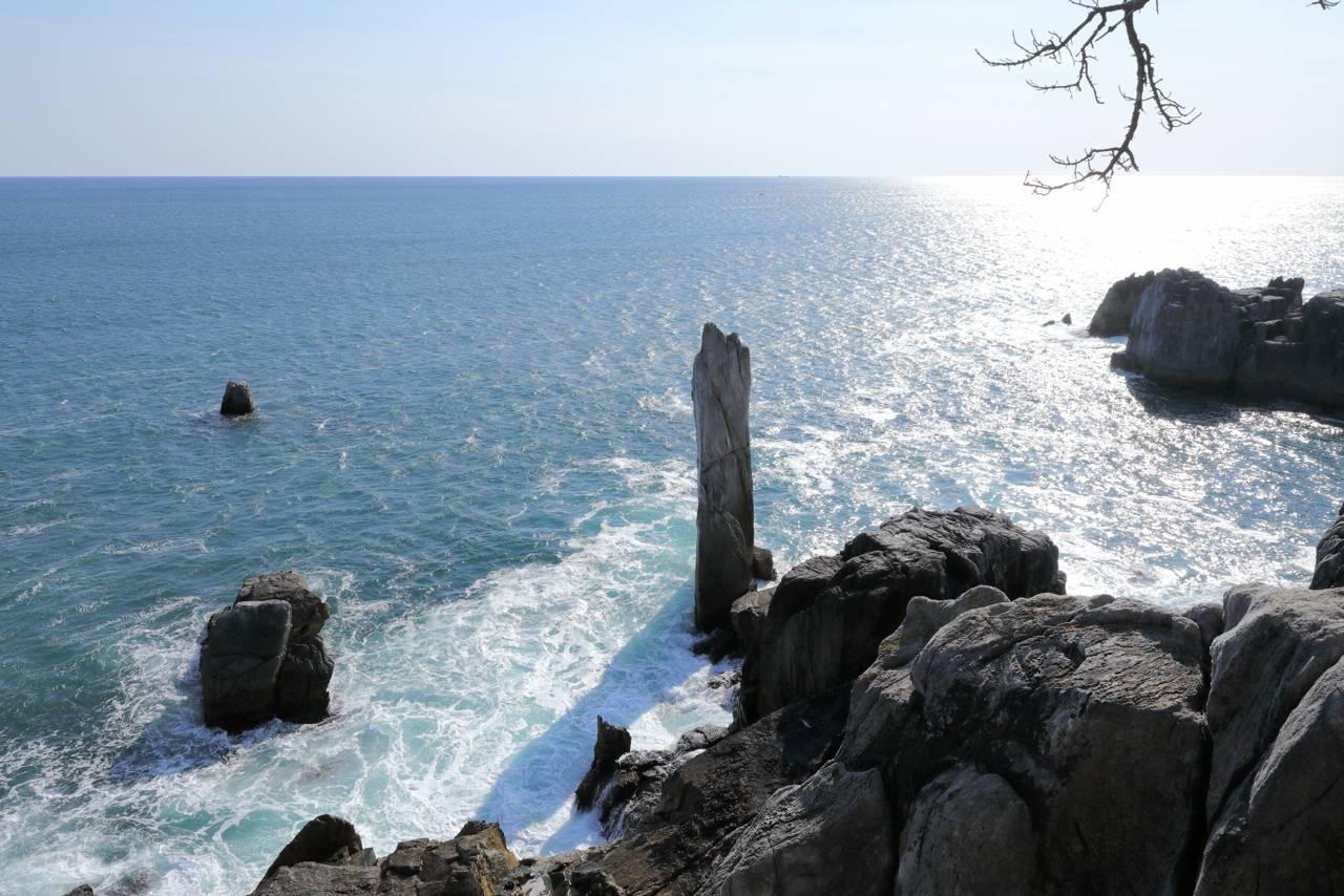 唐桑半島の折石