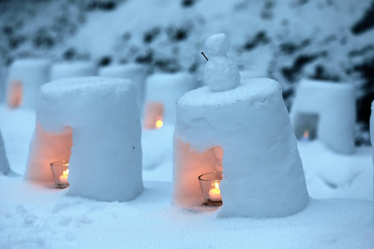 青根温泉、雪あかりまつり