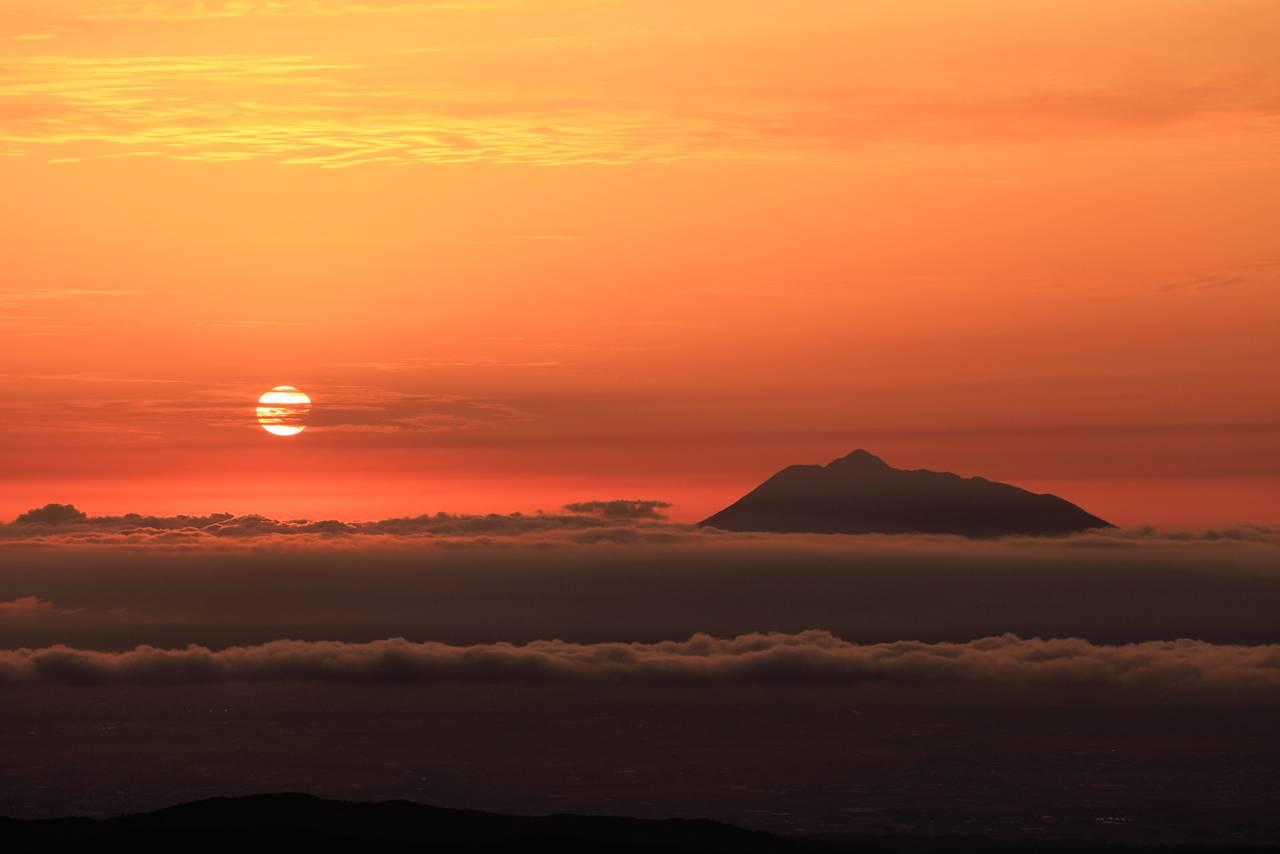 八甲田山からみた夕日